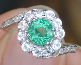 Apatite & Sapphire Ring