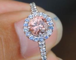 Precision Cut Tourmaline & Sapphire Ring