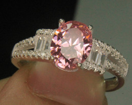 Wow Very Beautiful Pink & small White Color CZ Zirconia .