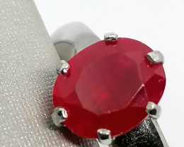 Ruby Solitaire Ring 2.20cts.
