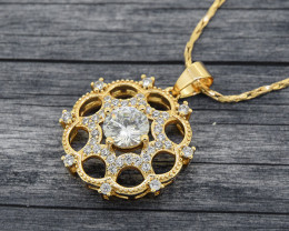 Ornate 18kt Gold-filled Pendant