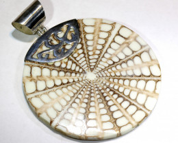 63.5 CTS SHELL JEWELRY PENDANT 925 SILVER   SJ-1045