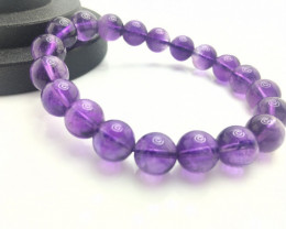 10mm Natural Amethyst Bracelet
