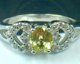 Natural Chrysoberyl Gemstone. Silver925 Ring. DCB 105