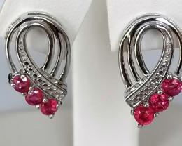 Ruby Earrings 1.00 TCW