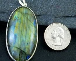Genuine 110.00 Cts Amazing Flash Labradorite Pendant