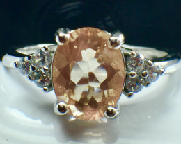1.25 Ct Natural Sunstone Top Quality Gemstone Silver925 Ring. DSS 81
