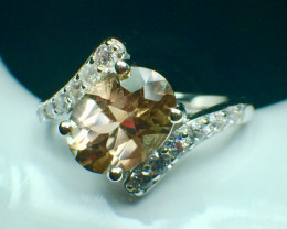 1.68 Ct Natural Sunstone Top Quality Gemstone Silver r925 Ring. DSS 82