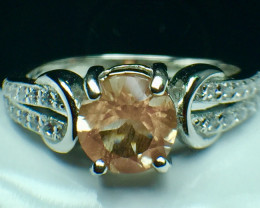 0.92 Ct Natural Sunstone Top Quality Gemstone Silver 925 Ring. DSS 83