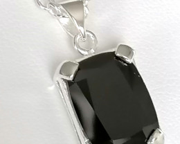 Black Spinel Necklace 8.12cts.