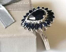 Blue Sapphire Ring 4.50 TCW