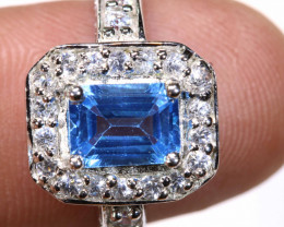28.15 CTS BLUE TOPAZ SILVER RING SG-3035