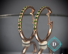 Natural Tsavorite Earring in Silver 925 By Dani Jewelers