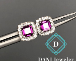 Rhodolite 925 Silver Earring  by DANI Jewellery