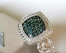 Blue Diamond Ring 0.25ct.