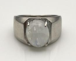 26.39 Crt Natural Moonstone 925 Silver Ring