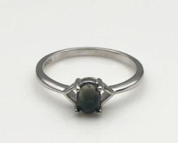 8.38 Crt Natural Opal 925 Silver Ring