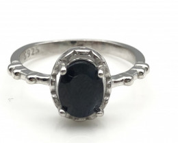 11.25 Crt Natural Sapphire 925 Silver Ring