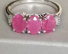 Pink Sapphire and Diamond Ring 3.30 TCW