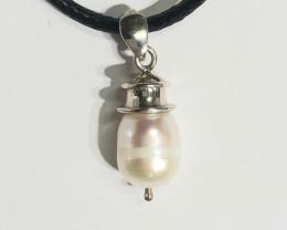 Silver bale Pearl Pendant  BR 2500