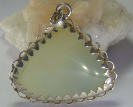 Agate pendent ~ antique stone~ fantasy silver designs 64.40cts