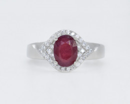 EXCLUSIVE RING Made with Genuine Ruby and Sterling Silver GR555