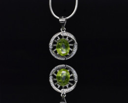 EXCLUSIVE PENDANT Made with Genuine Peridot and Sterling Silver GP188