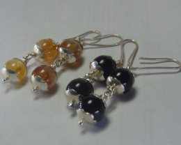 earrings 999 silver designs mix colors 45.15 cts