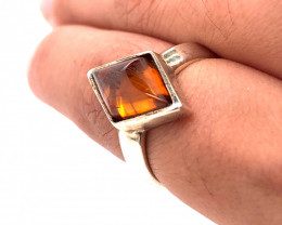 Amber sterling silver ringBr 2516