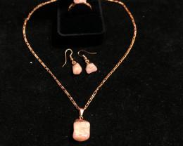 Pink peru opal l Raw  Set - High Grade - BR 2524