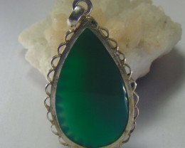 Agate pendent ~ antique stone~ fantasy silver designs 67.95cts