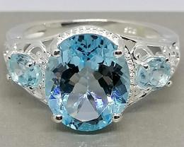 Blue Topaz Ring 6.50 TCW