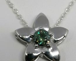 Bluish Green Diamond Pendant 0.70ct.
