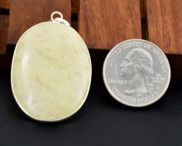 Genuine 66.00 Cts Tibet Silver Aventurine Pendant