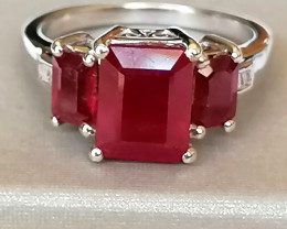 Ruby and Diamond Ring 4.45TCW