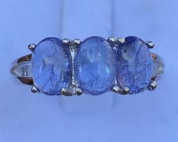 Natural Tanzanite 925 Silver Ring