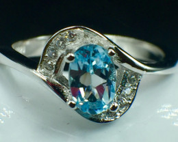 Natural Topaz Beautiful Gemstone. Silver925 Ring. DTP 126