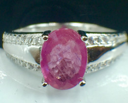 Natural Ruby Beautiful Gemstone. Silver925 Ring. DRB 135