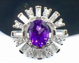 Natural Amethyst Gemstone. Silver925 Ring. DAT 122