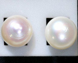 10.60 cts GOOD LUSTRE FRESHWATER PEARL EARRINGS SJ-1054