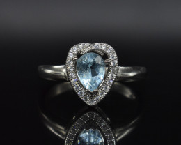 EXCLUSIVE RING Made with Genuine BLUE TOPAZ  and Sterling Silver GR575