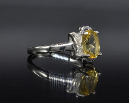 EXCLUSIVE RING Made with Genuine LEMON  and Sterling Silver GR581