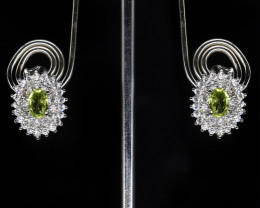 EXCLUSIVE EARRINGS Made with Genuine PERIDOT  and Sterling Silver GE84