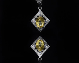 EXCLUSIVE PENDANT Made with Genuine CITRINE  and Sterling Silver GP195