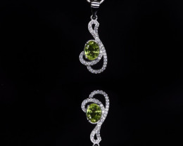 EXCLUSIVE PENDANT Made with Genuine PERIDOT and Sterling Silver GP196