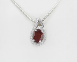 EXCLUSIVE PENDANT Made with Genuine GARNET  and Sterling Silver GP197