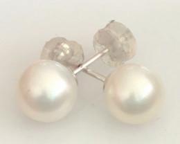 Beautiful Fresh Water Silky Ivory  Pearl Earrings PE01