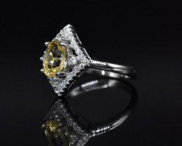 EXCLUSIVE RING Made with Genuine CITRINE and Sterling Silver GR754