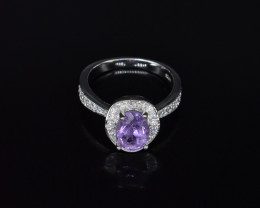EXCLUSIVE RING Made with Genuine AMETHYST and Sterling Silver GR758