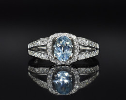 EXCLUSIVE RING Made with Genuine BLUE TOPAZ and Sterling Silver GR760